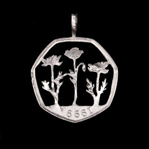 Field of Poppies - Coin Pendant