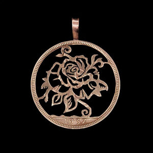 Summer Rose - Coin Pendant