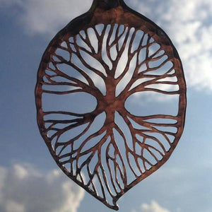 Symmetrical Leaf of Life - Spoon Pendant
