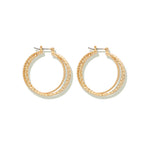 Three Ringed Hoop Earrings