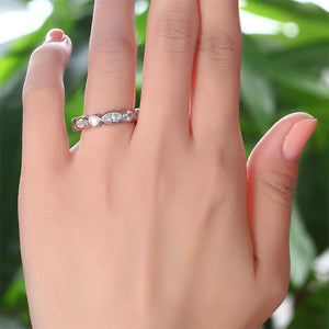 Marquise 925 Sterling Silver Ring