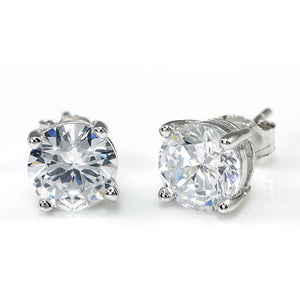 2 Carat Clear Simulated Diamond Studs