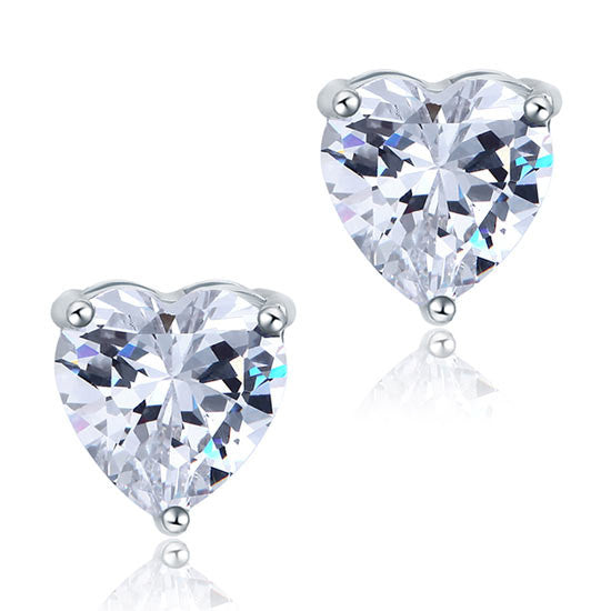 4 Carat Heart Cut Simulated Diamond Studs