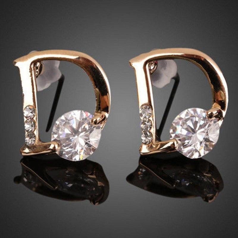 Diamond D Earrings
