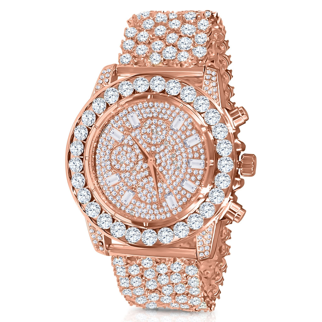 Rose 5mm Solitare Bezel and Crystal Watch
