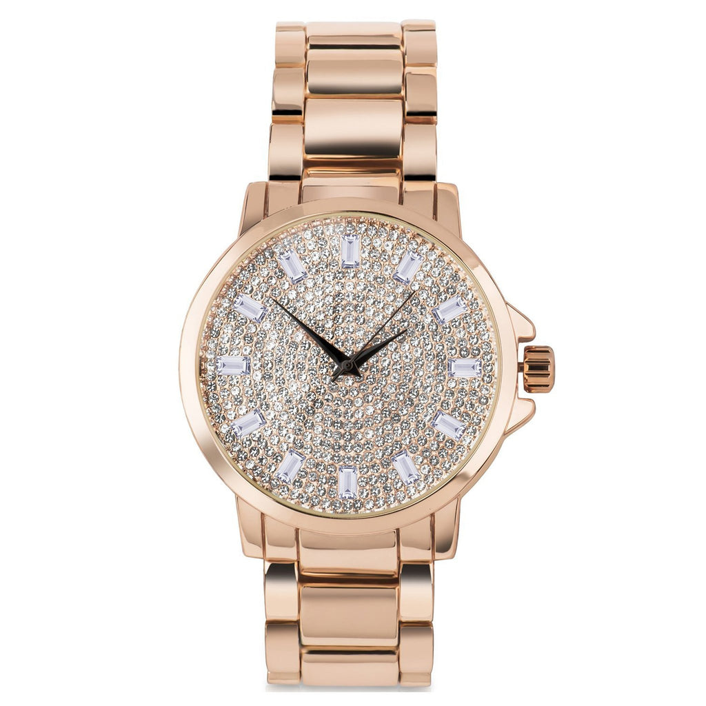 Rose Baguette Bling Watch