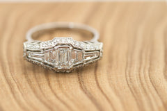 Hand crafted Platinum & Diamond Dress Ring