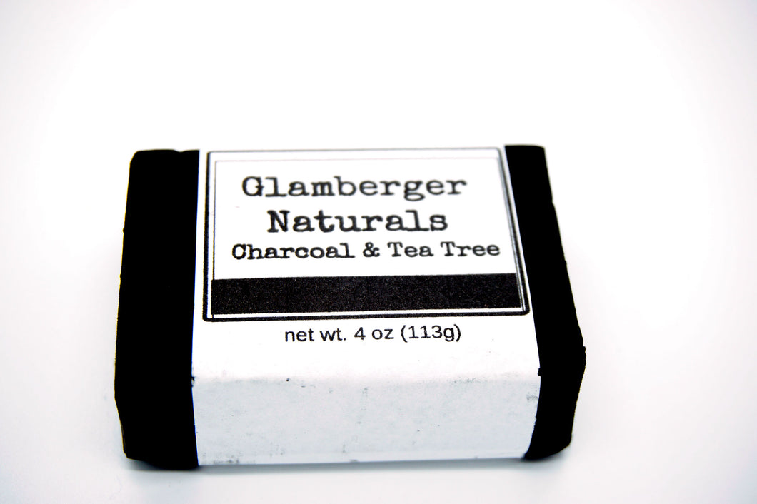 Organic Activated Charcoal and Tea Tree Soap