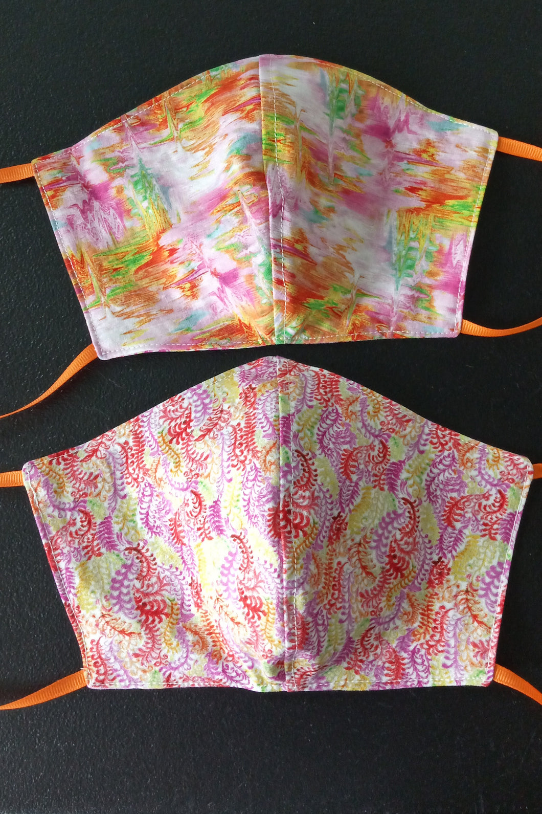 Reversible Face Mask- Pink and Orange