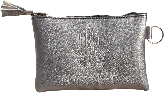 Maroccan khmissa pouch clutch bag Grey color - Bijouterie en ligne - 1
