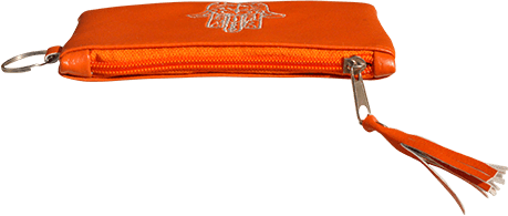 Maroccan khmissa pouch clutch bag Orange color - Bijouterie en ligne - 3
