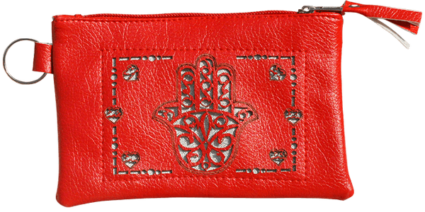 Maroccan khmissa pouch clutch bag Red color - Bijouterie en ligne - 1