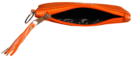 Maroccan khmissa pouch clutch bag Orange color - Bijouterie en ligne - 2