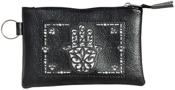 Maroccan khmissa pouch clutch bag Black color - Bijouterie en ligne - 1