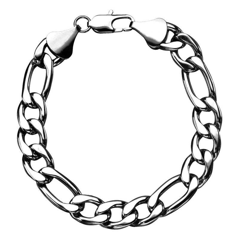 Figaro 11mm Chain Bracelet with Lobster Closure - Bijouterie en ligne - 1