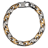 Steel and IP Gold Link Polished Bracelet - Bijouterie en ligne - 1
