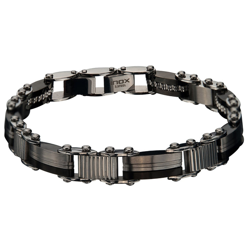 Double Sided Bar and IP Black Edge Bracelet - Bijouterie en ligne - 2