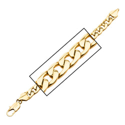 Gold IP Diamond Cut Curb Chain Bracelet