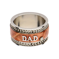Brown Leather DAD Ring. - Bijouterie en ligne - 1