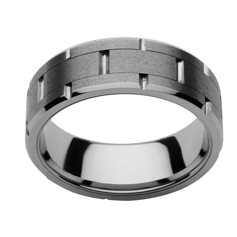 Tungsten Carbide and Ceramic Ring - Bijouterie en ligne - 1