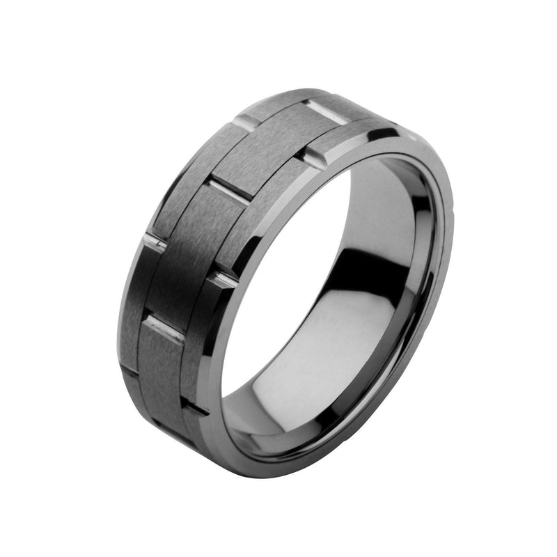 Tungsten Carbide and Ceramic Ring - Bijouterie en ligne - 2