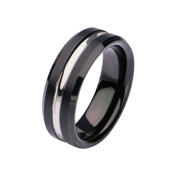 Black IP & Steel Nero Ring