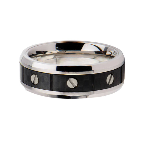 Screw with Solid Carbon Fiber Ring - Bijouterie en ligne - 1