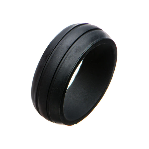 Men's Silicone Safety Bands for Active Lifestyles in Black