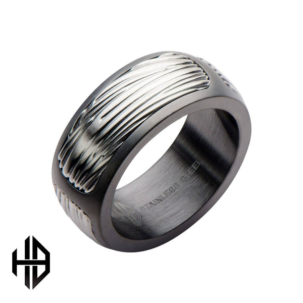 Hollis Bahringer Men's Sandblasted Gun Metal Eagle Ring
