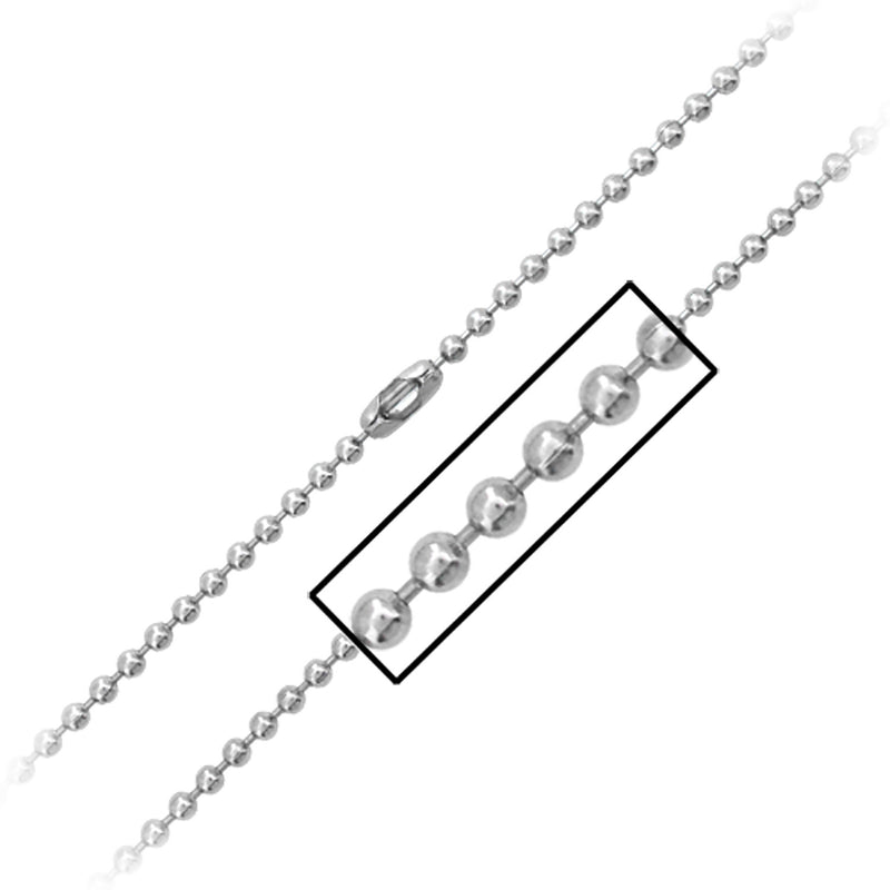3mm Ball Chain with Simple Connector - Bijouterie en ligne