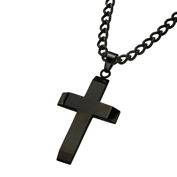 Resin Pendant with Black IP Cross - Bijouterie en ligne - 2