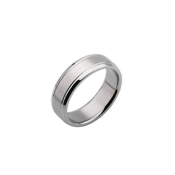 Satin Dome Center Wedding Band Ring - Bijouterie en ligne - 1