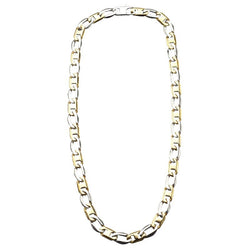 Inox Stainless Steel Flat Mariner Link IP Gold Polish Chain.