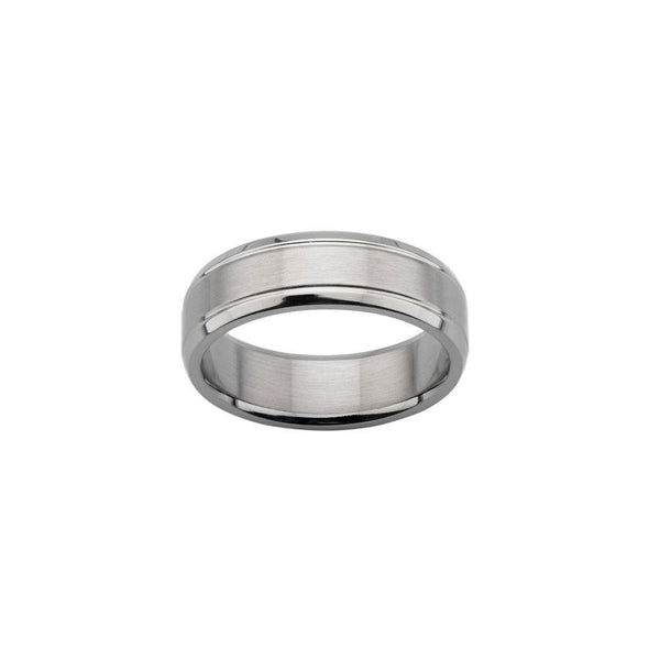 Satin Dome Center Wedding Band Ring - Bijouterie en ligne - 2