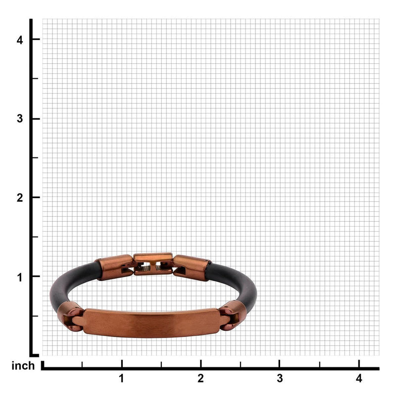 Brown Bar ID Rubber Bracelet - Bijouterie en ligne - 3