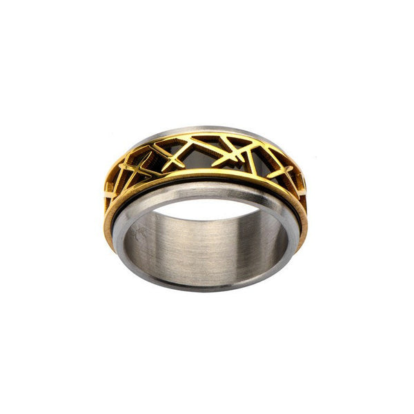 IP Black with IP Gold Thorn Ring - Bijouterie en ligne - 2