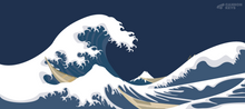 Load image into Gallery viewer, [In Stock] Great Wave Deskmat