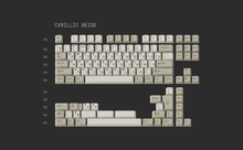 Load image into Gallery viewer, [GB] GMK Cyrillic Beige & WoB