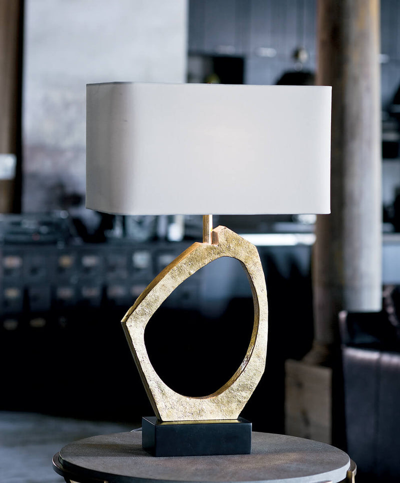 MANHATTAN GOLD LEAF LAMP
