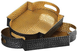 CORNERSTONE HOME INTERIORS - GATHA TRAYS (SET OF 2)