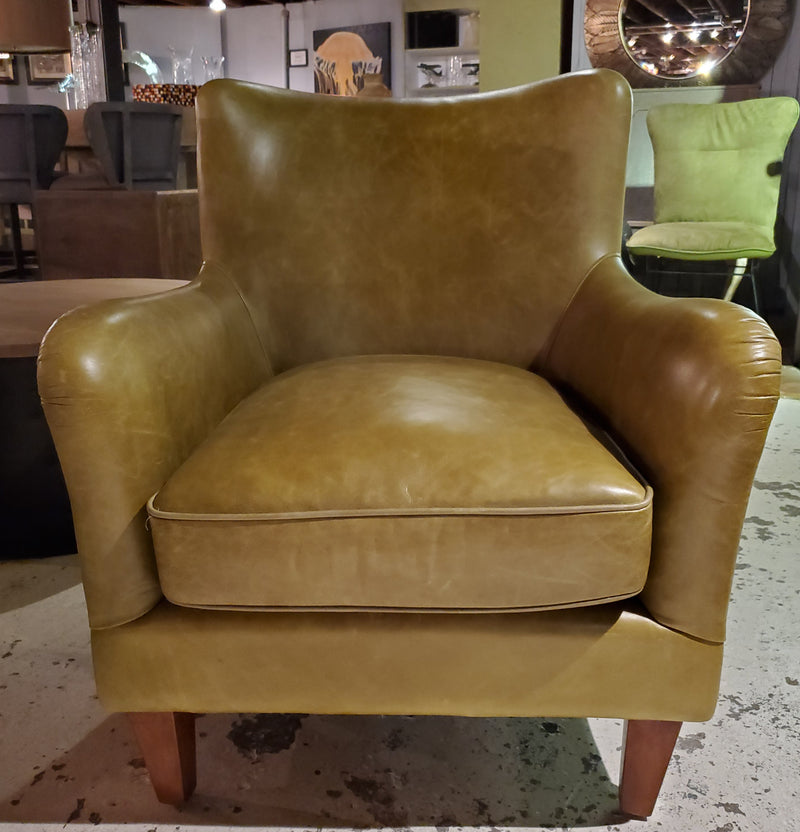 Godreuy Green Leather Chair