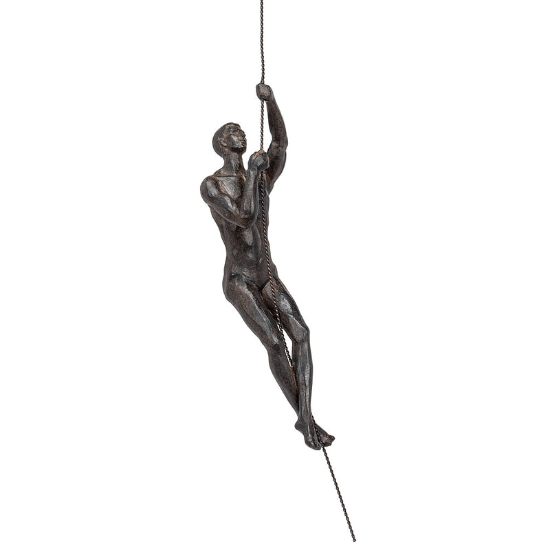 Slim Rope Climbing Man