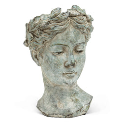 Large Woman Head Planter