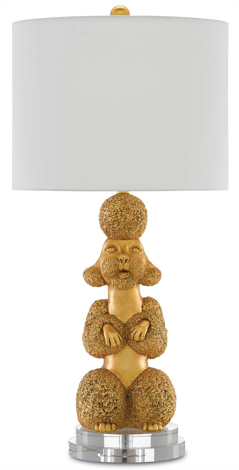 CORNERSTONE HOME INTERIORS - LIGHTING - MS. POODLE GOLD TABLE LAMP