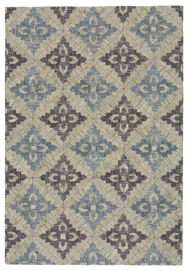 BERMUDA 5x8 RUG IN GREY/BLUE