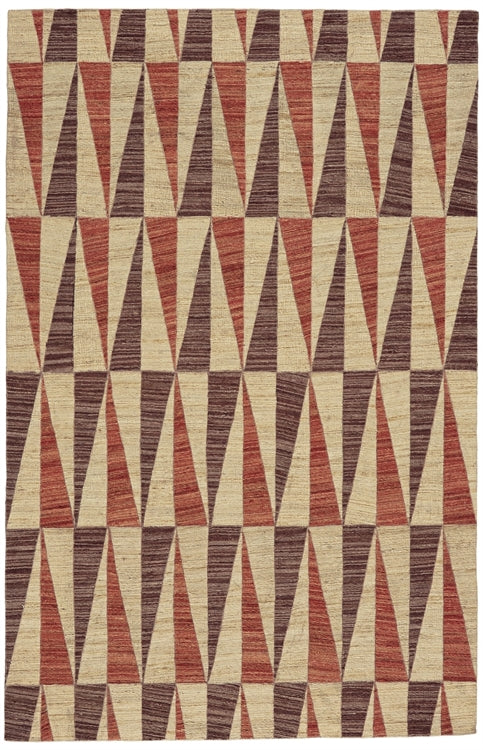 BERMUDA 5x8 RUG IN RED/BROWN