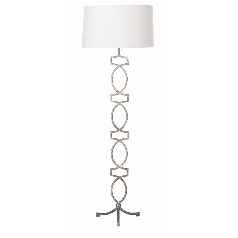 CORNERSTONE HOME INTERIORS - LAMP - COOPER FLOOR LAMP SILVER LEAF