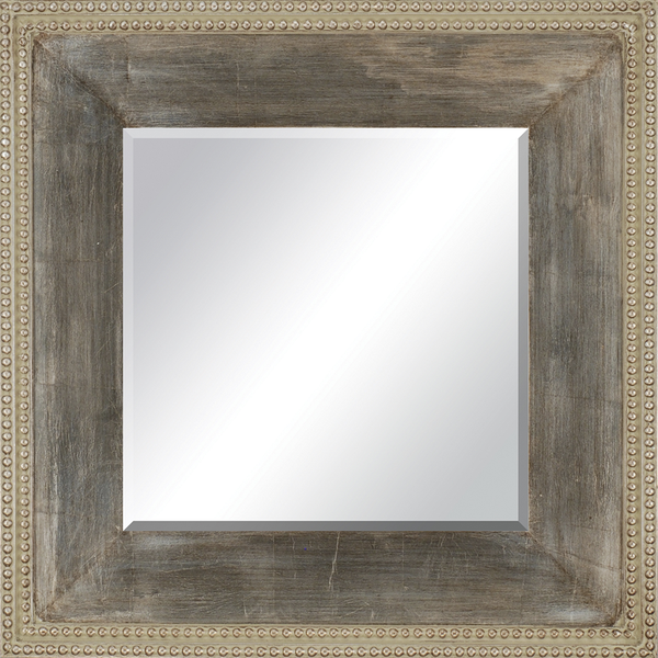 CORNERSTONE HOME INTERIORS - CONTEMPORARY AGED SILVER MIRROR