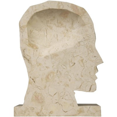 CORNERSTONE HOME INTERIORS - ACCENT - WHITE MARBLE BOOKENDS