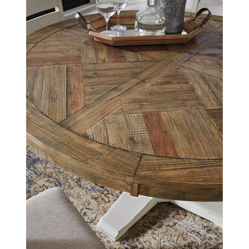 CORNERSTONE HOME INTERIORS - GRINDLEBURG DINING TABLE